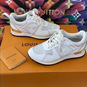 Louis Vuitton Run Away white gold sneakers 7
